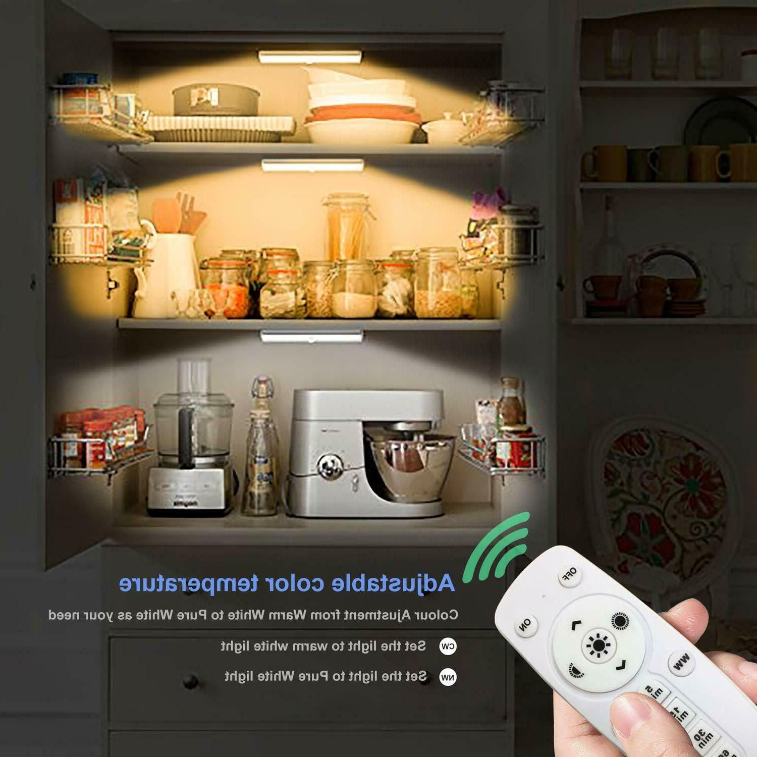 Remote Cabinet Light Dimmable 10-Led Wireless Counter