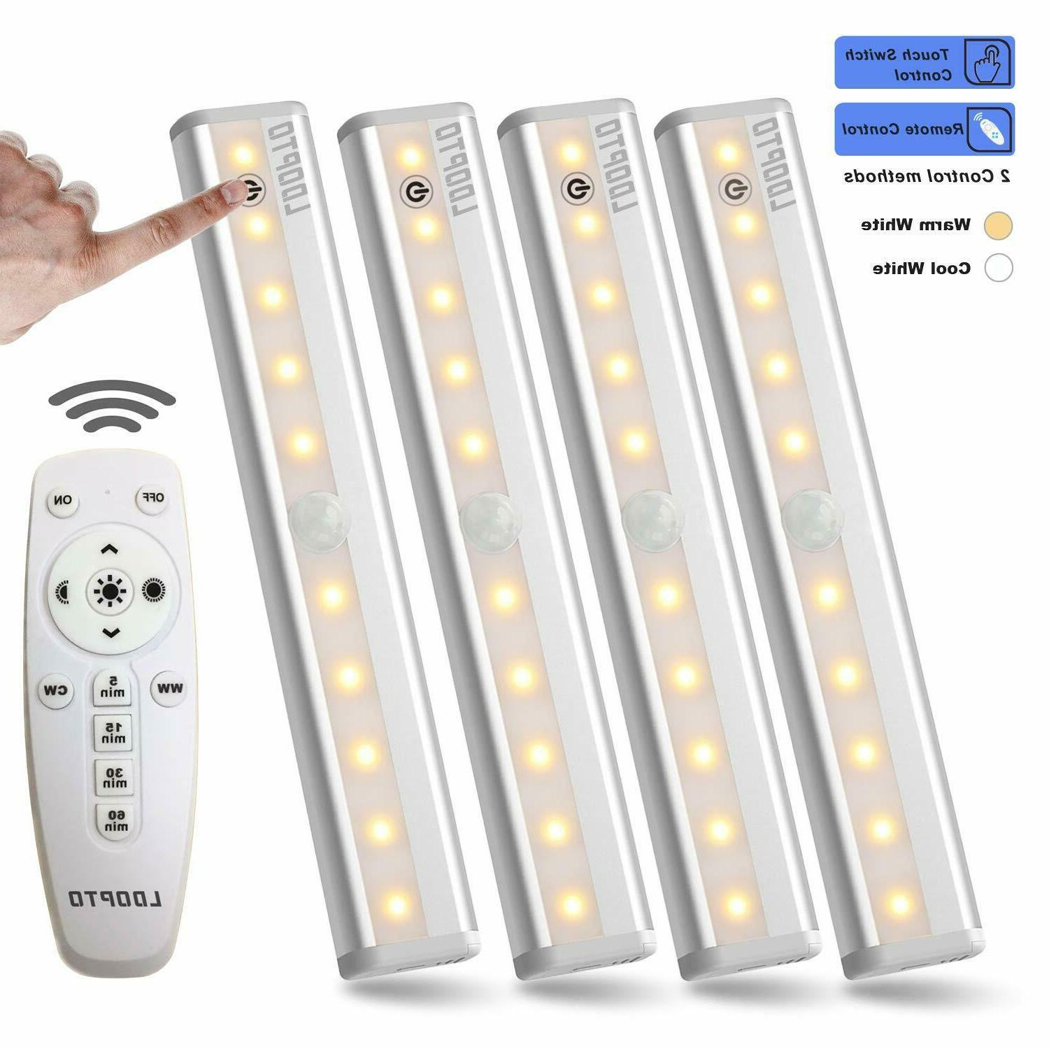 remote control cabinet light dimmable 10 led