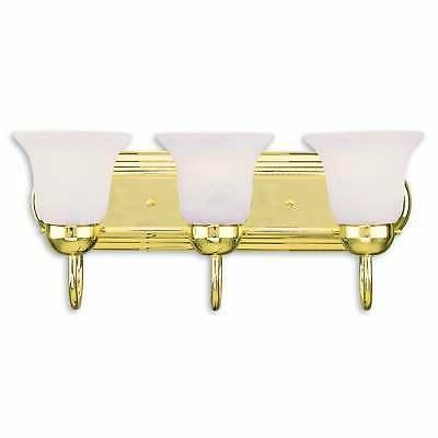 Livex Lighting Riviera Polished Brass 3-light Bath Light