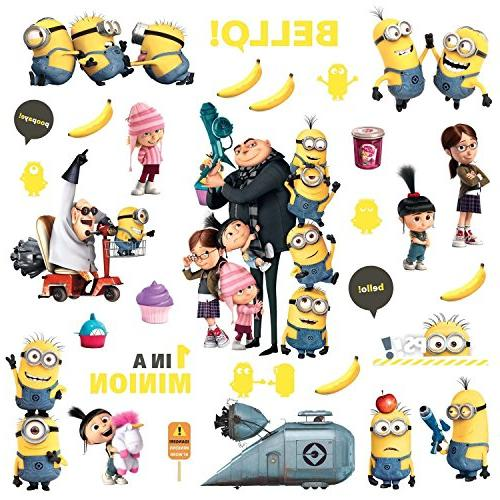 Roommates Rmk2080scs Despicable Me 2 Peel & Stick Wall Decal