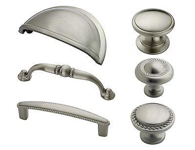 satin nickel rope cabinet hardware knobs