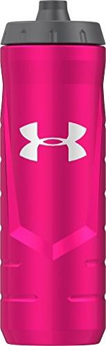 Under Armour Sideline 32 Ounce Squeezable Bottle, Pink