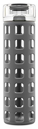 Ello Syndicate BPA-Free Glass Water Bottle with Flip Lid, Gr