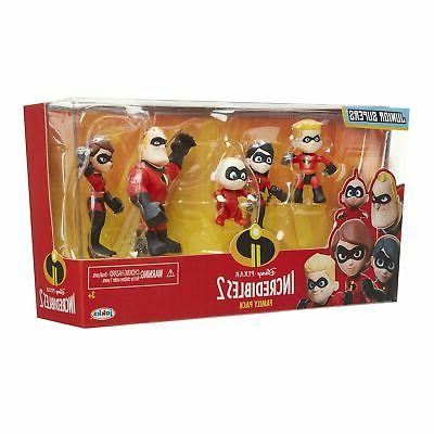 """The Incredibles 2Family Junior Supers Figures,Approximately 3""""Tall"""