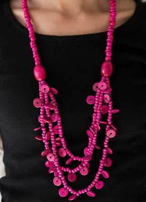 under 10 safari samba pink necklace