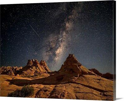 under the milky way canvas wall art