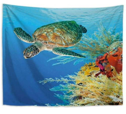 US 10 pieces fish wall tapestries