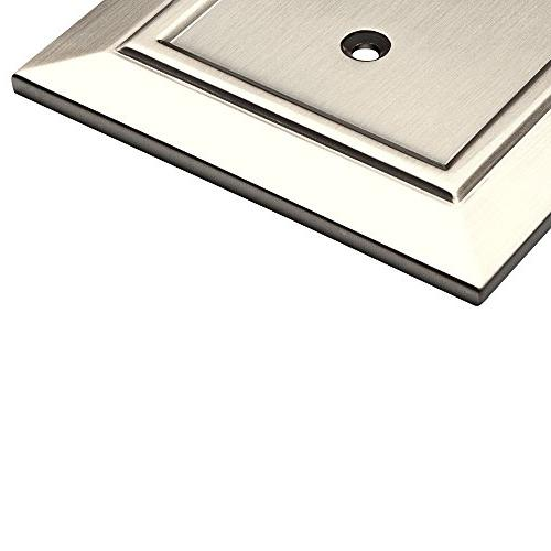 Franklin Brass Architecture Toggle Wall Plate/Cover, Satin Nickel