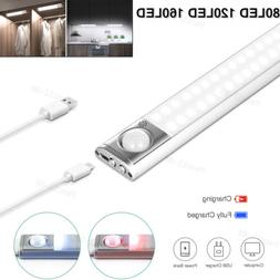 LED Motion Sensor Under Cabinet Closet Light USB Rechargeabl
