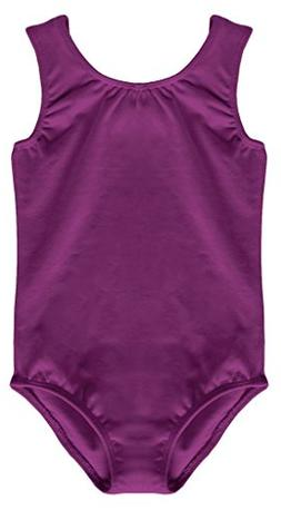 Dancina Ballet Leotard Tank Top Girls Full Front Lined Cotto