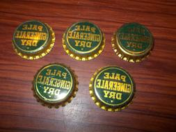 Lot of 10 Unused Pale Dry Gingerale Bottle Caps , Triangle u
