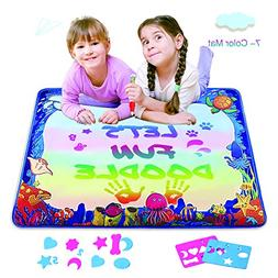 SAFEFUNN Magic Water Drawing Mat, Upgrade Doodle Mat in 7-Co