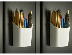 Officemate Magnet Plus Magnetic Pencil Cup, White