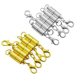 10 PCS Magnetic Jewelry Clasps –YSLF 5 PCS Silver-plated a