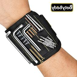 Magnetic Wristband, BetyBedy Band Tool Holder with 10 Powerf