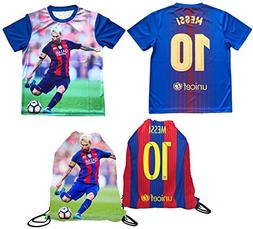 Messi Jersey Style T-shirt Kids Lionel Messi Jersey Picture