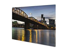 Ashley Giclee Metal Panel Print, Portland Oregon Skyline Und
