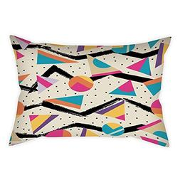 iPrint Microfiber Throw Pillow Cushion Cover,Indie,Eighties
