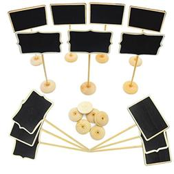 14 Pack Mini Chalkboard with Stand for Message Board Signs S