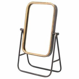 Zuo Mirror with Stand in Antique Gold