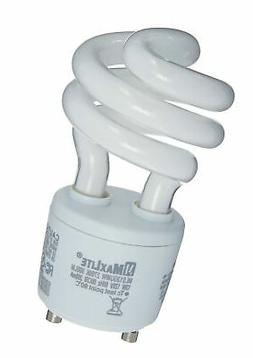 MaxLite MLS13GUWW  13-watt 2700K GU24 Self-Ballast CFL Lamp,