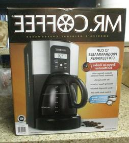 Mr coffee 12 cup programmable coffee maker brews in under 10