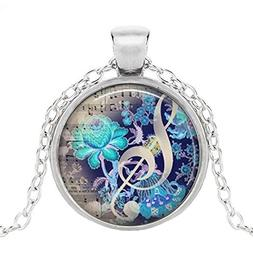 The Color of Music pendant, music necklace music jewelry mus