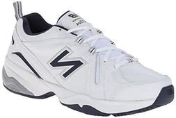 New Balance Men's MX608V4 Training Shoe,White/Navy,10.5 4E U