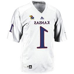 adidas NCAA Kansas Jayhawks Men's 3-Stripe Football Jersey,