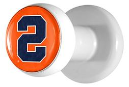"Team ProMark NCAA Syracuse Orange Hat Pegs, Orange, 1.5"" x 1"