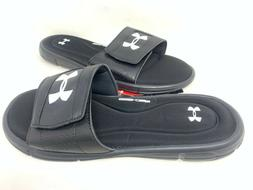 NEW! Under Armour Men's Ignite V Comfort Slides Black/White