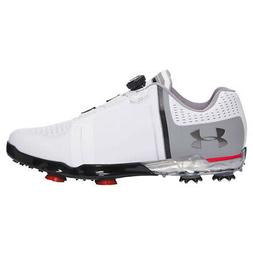 NEW Mens Under Armour UA Spieth One BOA Golf Shoes White/Bla