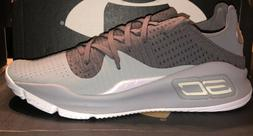 NIB Under Armour Curry 4 Low Mens Gray Basketball Shoes Size