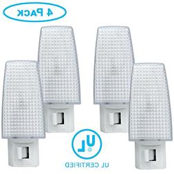 ClearMax 4 Pack Night Light Plug w/ON OFF Toggle, Night Lamp