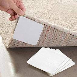 Sujing 4pcs Non-Slip Rug Pads Gel Mat Sticky Gel Pads Double