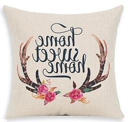 Nordic Simple Hand-painted Flowers Bucks Antlers Home Sweet