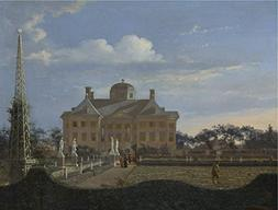 'Jan Van Der Heyden The Huis Ten Bosch At The Hague ' Oil Pa