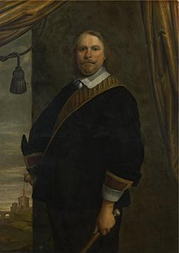 'Cesar Van Everdingen Portrait Of A Dutch Commander ' Oil Pa