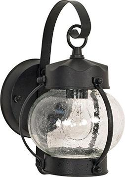 Onion Wall Lantern in Textured Black - Energy Star: No