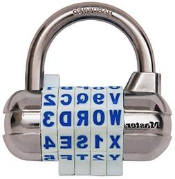 Master Lock Padlock, Set Your Own WORD Combination Lock, 2-1