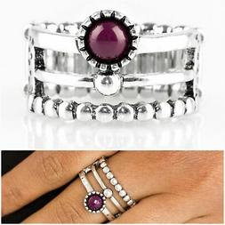 paparazzi under 10 summer retreat purple ring