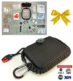 Paracord Survival Grenade Tin And Emergency Bracelet --Backp