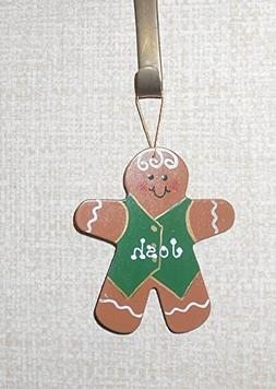 Personalized Wooden Gingerbread Man Ornament