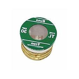 Bussmann Plug Fuse Time Delay 30 Amp 125 V Brass Small Motor