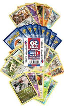 Pokemon Cards 50 Card Assorted Lot  Cazillion Cards Repack