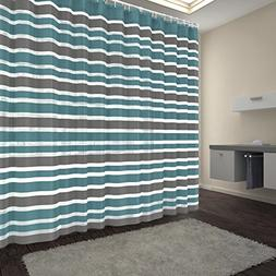 Blu-Pier 72-Inch-by-72-Inch Polyester Shower Curtain with Ho