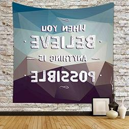 iPrint Polyester Tapestry Wall Hanging,Quotes Decor,When You