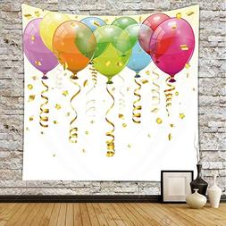iPrint Polyester Tapestry Wall Hanging,Birthday Decorations,