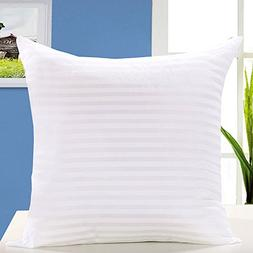 "Kingnex Set of 2-16"" x 16"" Square Pillow Inserts White Polys"
