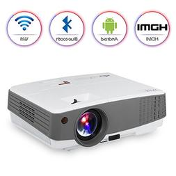 2018 Portable HD Wireless Projector Bluetooth Wifi Airplay f